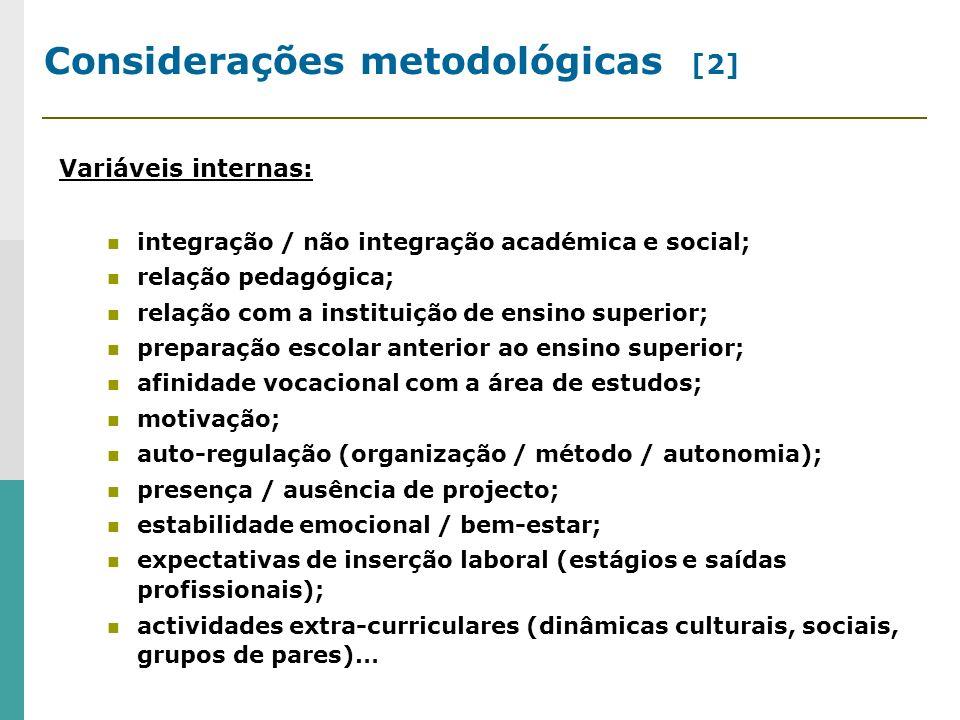 Considerações metodológicas [2]
